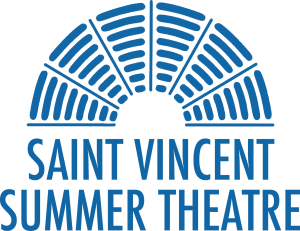Saint Vincent Summer Theatre logo in blue